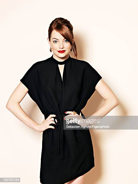 Actress Emma Stone is photographed for Madame Figaro on September 1 2011 in Paris France Figaro ID 101741004 Dress by Valentino CREDIT MUST READ...