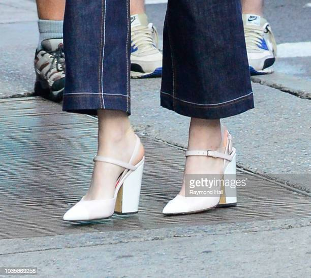 Actress Emma Stone is seen arriving at Good Morning America on September 19 2018 in New York City
