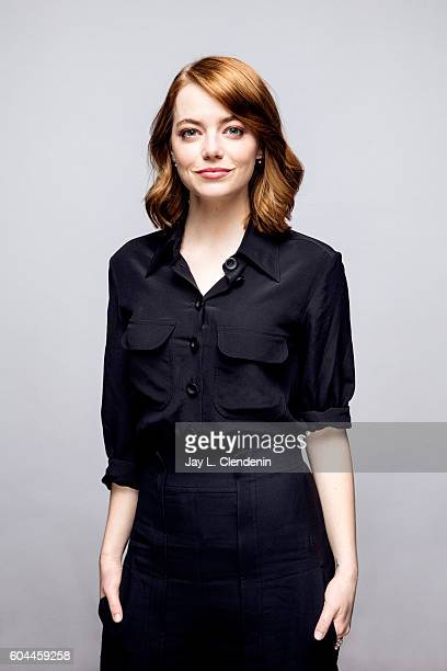 Actress Emma Stone of 'LA LA LAnd' poses for a portraits at the Toronto International Film Festival for Los Angeles Times on September 12 2016 in...