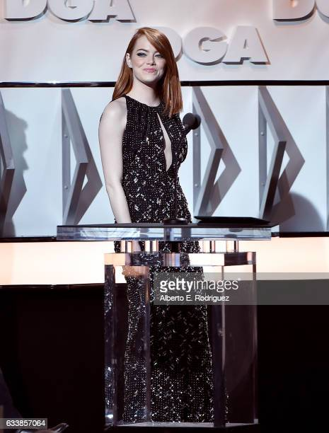 Actress Emma Stone onstage during the 69th Annual Directors Guild of America Awards at The Beverly Hilton Hotel on February 4 2017 in Beverly Hills...