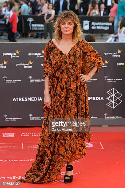 Actress Emma Suarez attends Nuestros Amantes premiere at the Cervantes Teather during the 19th Malaga Film Festival on April 30 2016 in Malaga Spain