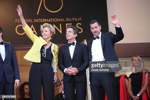 Actress Emma Thompson actor Ben Stiller and actor Adam Sandler of 'The Meyerowitz Stories' attend the The Meyerowitz Stories screening during the...