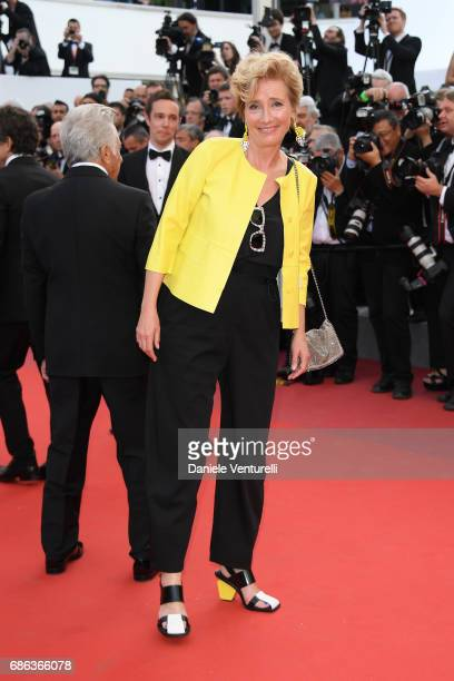 Actress Emma Thompson and actor Dustin Hoffman of 'The Meyerowitz Stories' attend the 'The Meyerowitz Stories' screening during the 70th annual...