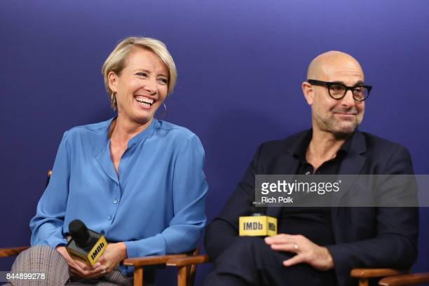 Actress Emma Thompson and actor Stanley Tucci of 'The Children's Act' attend The IMDb Studio Hosted By The Visa Infinite Lounge at The 2017 Toronto...