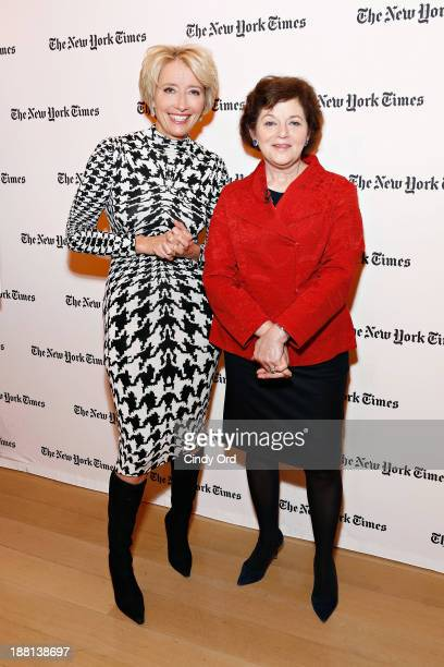 Actress Emma Thompson and Film Critic for The New York Times Janet Maslin attend as The New York Times and The Academy of Motion Picture Arts and...
