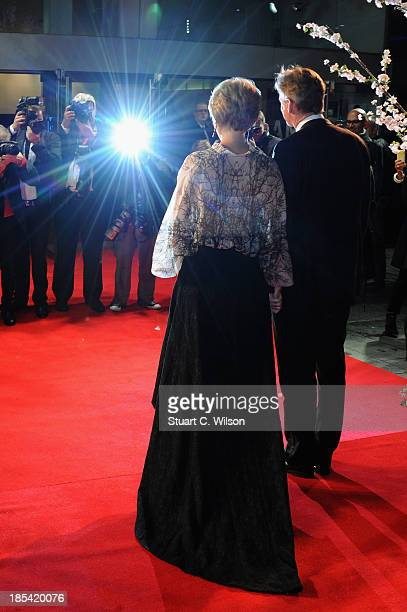 Actress Emma Thompson and husband Greg Wise attend the Closing Night Gala European Premiere of 'Saving Mr Banks' during the 57th BFI London Film...