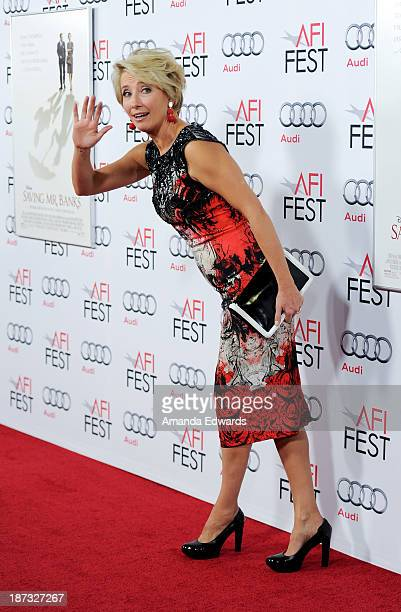 Actress Emma Thompson arrives at the AFI FEST 2013 Presented By Audi Disney's Saving Mr Banks Opening Night Gala Premiere at the TCL Chinese Theatre...
