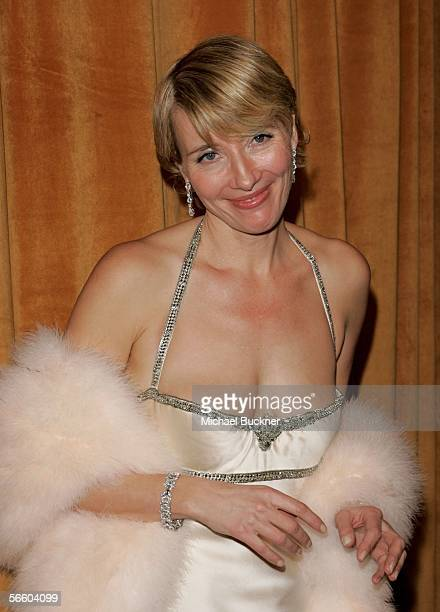 Actress Emma Thompson arrives at the Weinstein Co Golden Globe after party held at Trader Vic's on January 16 2006 in Beverly Hills California