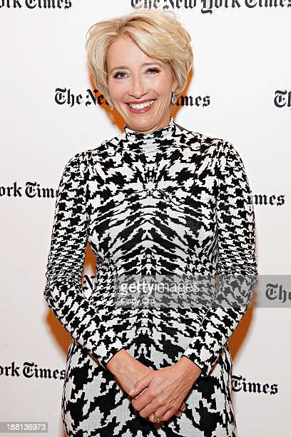 Actress Emma Thompson attends as The New York Times and The Academy of Motion Picture Arts and Sciences host a conversation with Emma Thompson star...