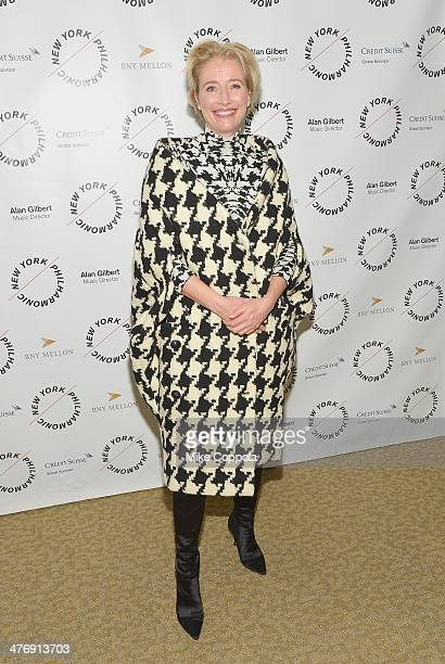 Actress Emma Thompson attends the 2014 The New York Philharmonic Spring Gala featuring Sweeney Todd The Demon Barber of Fleet Street at Josie...