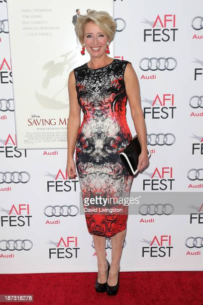 Actress Emma Thompson attends the AFI FEST 2013 presented by Audi premiere of Walt Disney Pictures' 'Saving Mr Banks' at TCL Chinese Theatre on...