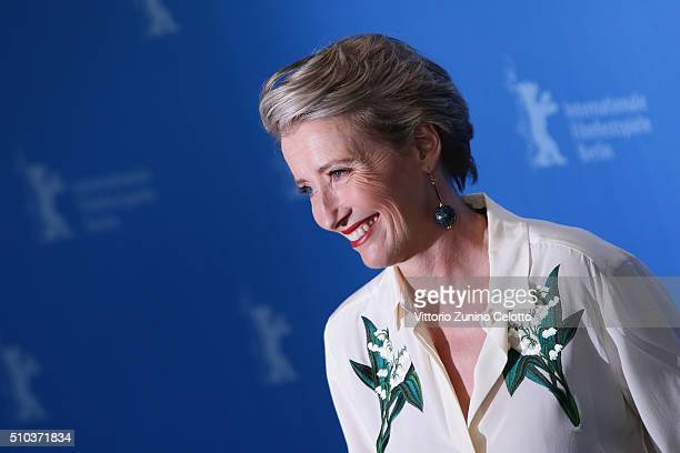Actress Emma Thompson attends the 'Alone in Berlin' photo call during the 66th Berlinale International Film Festival Berlin at Grand Hyatt Hotel on...