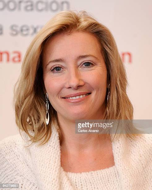Actress Emma Thompson attends 'The Journey' opening exhibition at Retiro Park on December 11 2009 in Madrid Spain