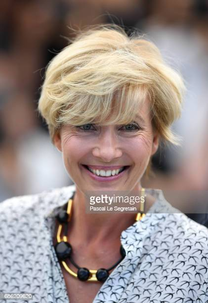 Actress Emma Thompson attends The Meyerowitz Stories photocall during the 70th annual Cannes Film Festival at Palais des Festivals on May 21 2017 in...