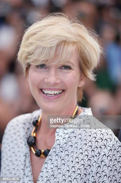 "Actress Emma Thompson attends ""The Meyerowitz Stories"" photocall during the 70th annual Cannes Film Festival at Palais des Festivals on May 21, 2017..."