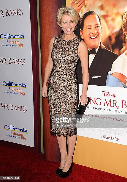 Actress Emma Thompson attends the premiere of Saving Mr Banks at Walt Disney Studios on December 9 2013 in Burbank California