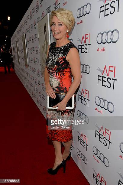 Actress Emma Thompson attends the premiere of Walt Disney Pictures' Saving Mr Banks during AFI FEST 2013 presented by Audi at TCL Chinese Theatre on...