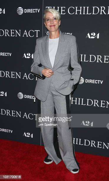Actress Emma Thompson attends the The Children Act New York premiere at Walter Reade Theater on September 11 2018 in New York City