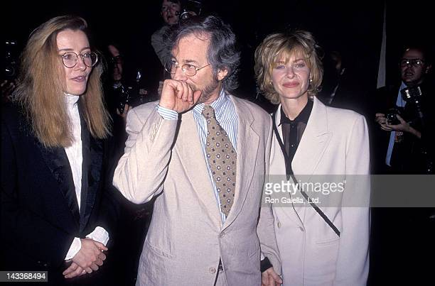 "Actress Emma Thompson, director Steven Spielberg and actress Kate Capshaw attend Tina Brown Hosts the ""New Yorker Goes to the Movies"" Party to..."