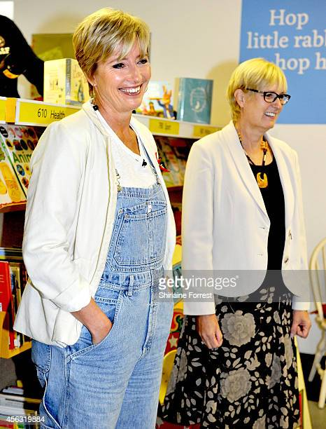 Actress Emma Thompson opens Peter Rabbit Library on the eve of the launch of her own book 'The Spectacular Tale Of Peter Rabbit' with children of St...