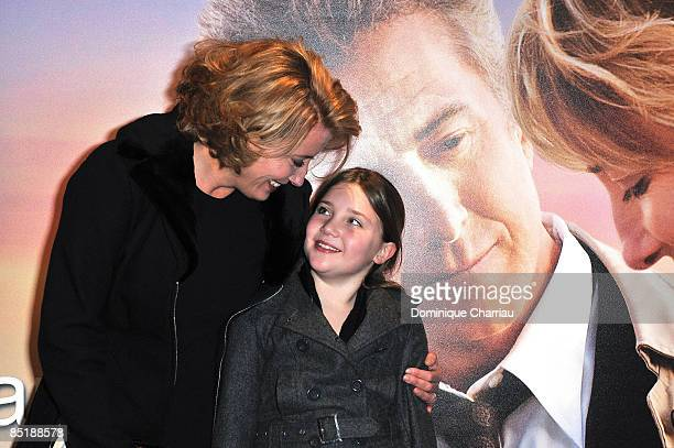 Actress Emma Thompson poses with daughter Gaia as she attends 'Last Chance for Love' photocall on February 26 2009 in Paris France