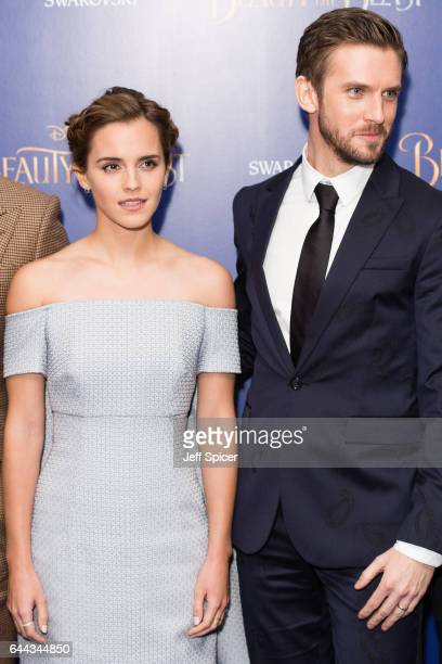 Actress Emma Watson and actor Dan Stevens attend the UK Premiere of 'Beauty And The Beast' at Odeon Leicester Square on February 23 2017 in London...