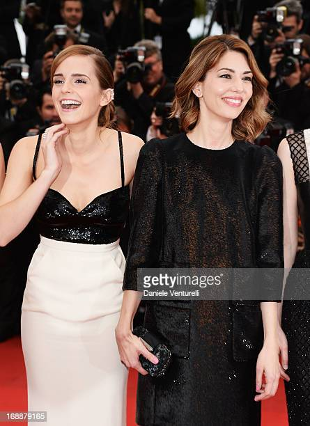 Actress Emma Watson and director Sofia Coppola attend the Premiere of 'The Bling Ring' at The 66th Annual Cannes Film Festival at Palais des...