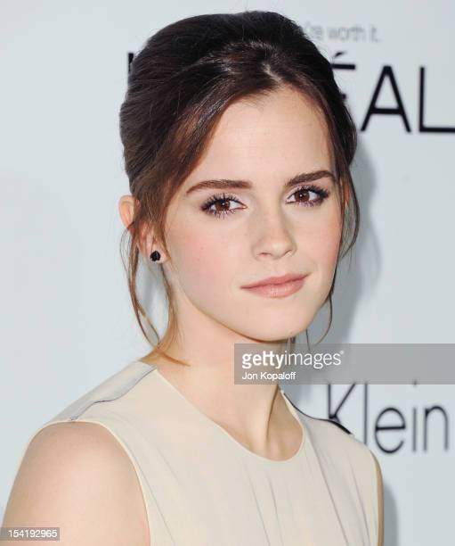 Actress Emma Watson arrives at the 19th Annual ELLE Women In Hollywood Celebration at the Four Seasons Hotel Los Angeles at Beverly Hills on October...