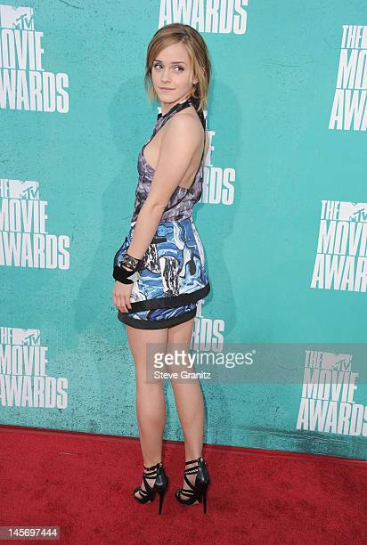 Actress Emma Watson arrives at the 2012 MTV Movie Awards at Gibson Amphitheatre on June 3 2012 in Universal City California