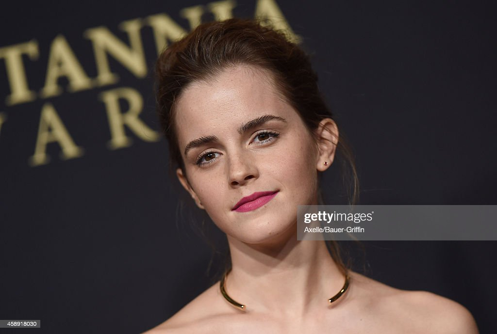 Actress Emma Watson arrives at the BAFTA Los Angeles Jaguar Britannia Awards at The Beverly Hilton Hotel on October 30, 2014 in Beverly Hills, California.
