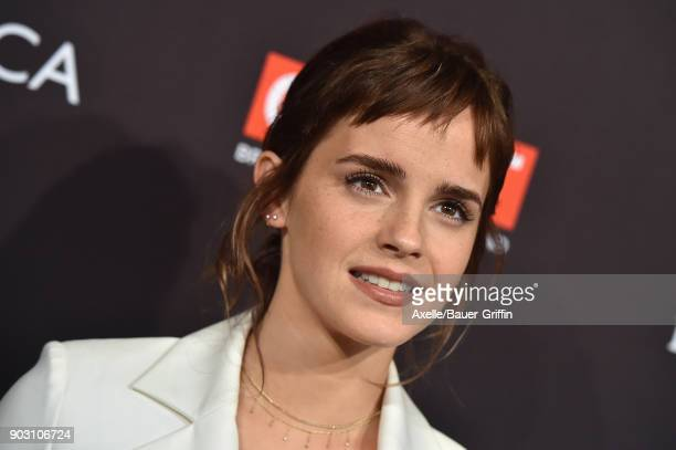 Actress Emma Watson arrives at The BAFTA Los Angeles Tea Party at Four Seasons Hotel Los Angeles at Beverly Hills on January 6 2018 in Los Angeles...