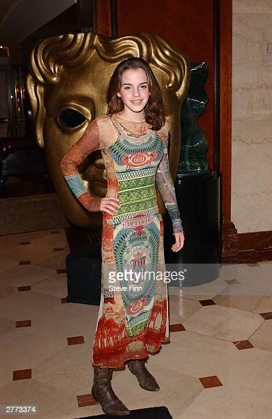 Actress Emma Watson arrives at the British Academy Children's Film And Television Awards in association with The Lego Company at the Hilton Hotel on...