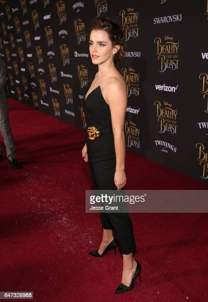 Actress Emma Watson arrives for the world premiere of Disney's liveaction 'Beauty and the Beast' at the El Capitan Theatre in Hollywood as the cast...