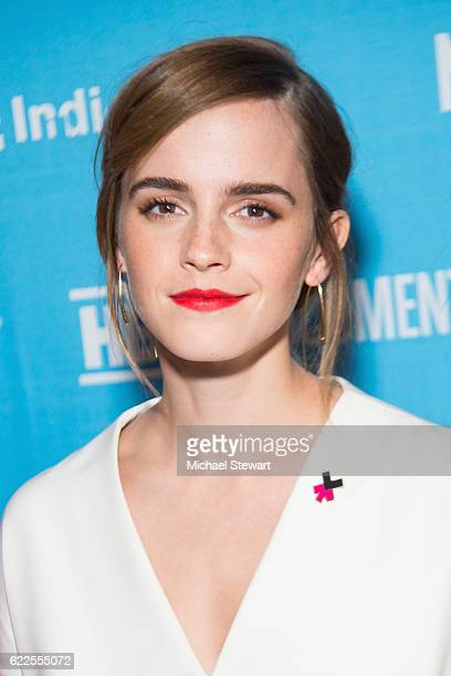Actress Emma Watson attends 2016 DOC NYC 'City of Joy' premiere at SVA Theater on November 11 2016 in New York City