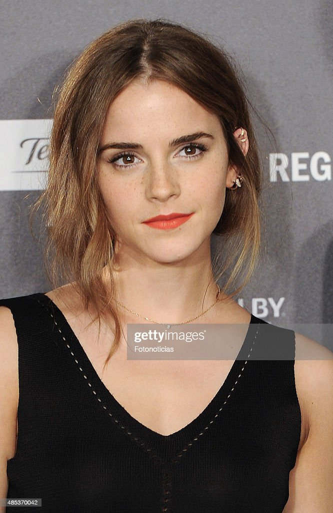 Actress Emma Watson attends a photocall for 'Regression' (Regresion) at the Villamagna Hotel on August 27, 2015 in Madrid, Spain.