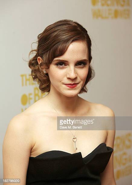 Actress Emma Watson attends a special screening of 'The Perks of Being The Wallflower' at The May Fair Hotel on September 26 2012 in London England