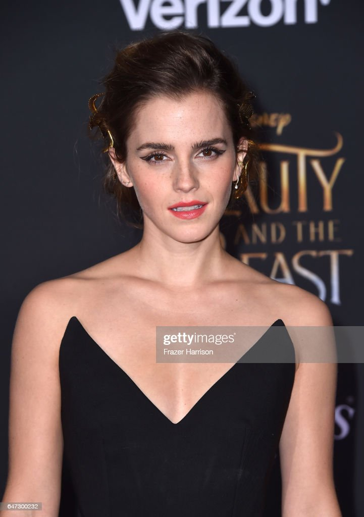 Actress Emma Watson attends Disney's 'Beauty and the Beast' premiere at El Capitan Theatre on March 2, 2017 in Los Angeles, California.