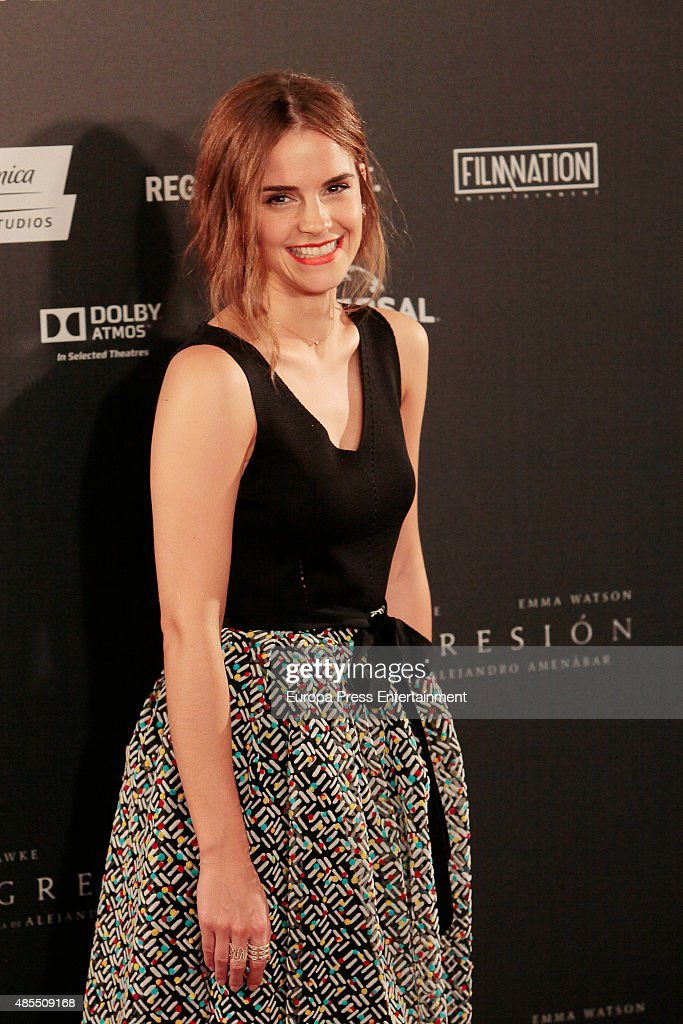 Actress Emma Watson attends 'Regression' photocall at Villamagna hotel on August 27, 2015 in Madrid, Spain.