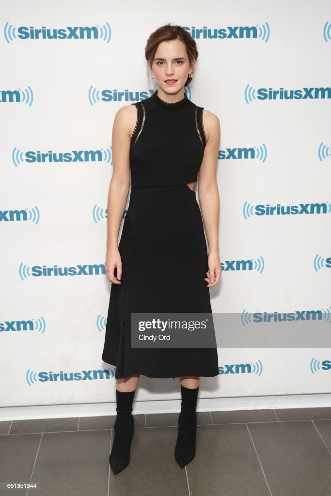 Actress Emma Watson attends SiriusXM's 'Town Hall' with Emma Watson; 'Town Hall' to air on Entertainment Weekly Radio on March 10, 2017 in New York City.