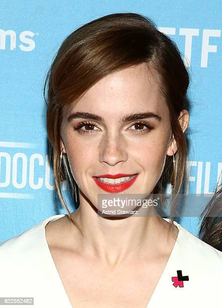 Actress Emma Watson attends the 2016 DOC NYC 'City Of Joy' Premiere at SVA Theater on November 11 2016 in New York City
