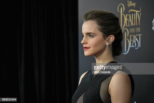 "Actress Emma Watson attends the ""Beauty And The Beast"" New York Screening at Alice Tully Hall at Lincoln Center on March 13, 2017 in New York City."
