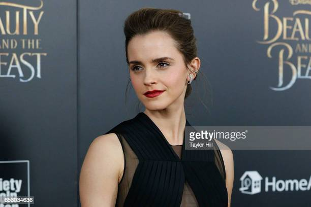 "Actress Emma Watson attends the ""Beauty and the Beast"" New York screening at Alice Tully Hall, Lincoln Center on March 13, 2017 in New York City."