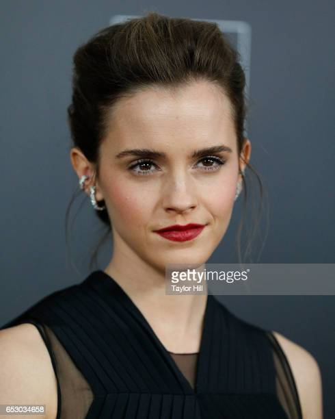 Actress Emma Watson attends the 'Beauty and the Beast' New York screening at Alice Tully Hall Lincoln Center on March 13 2017 in New York City
