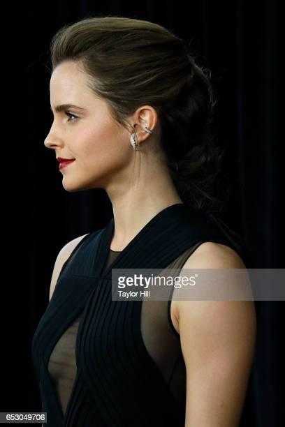 Actress Emma Watson attends the Beauty and the Beast New York screening at Alice Tully Hall Lincoln Center on March 13 2017 in New York City