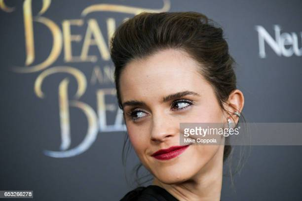 Actress Emma Watson attends the 'Beauty And The Beast' New York screening at Alice Tully Hall at Lincoln Center on March 13 2017 in New York City