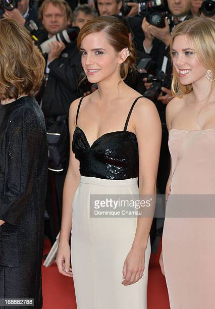 """Actress Emma Watson attends """"The Bling Ring"""" Premiere during the 66th Annual Cannes Film Festival at Grand Theatre Lumiere on May 16, 2013 in Cannes,..."""