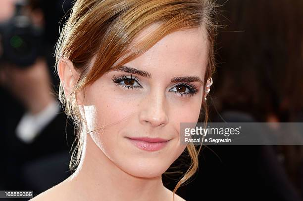 Actress Emma Watson attends 'The Bling Ring' premiere during The 66th Annual Cannes Film Festival at the Palais des Festivals on May 16, 2013 in...