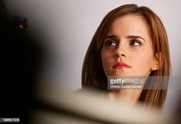 Actress Emma Watson attends 'The Bling Ring' press conference during the 66th Annual Cannes Film Festival at Palais des Festival on May 16 2013 in...