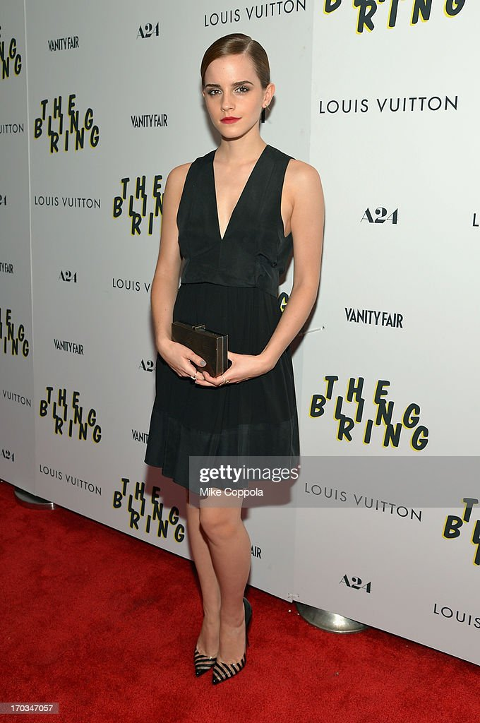 Actress Emma Watson attends 'The Bling Ring' screening at Paris Theatre on June 11, 2013 in New York City.