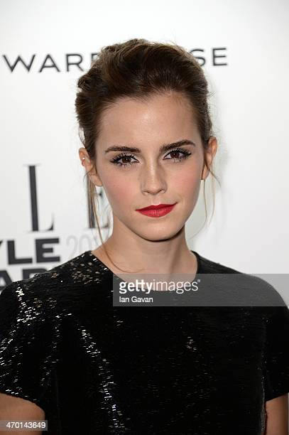Actress Emma Watson attends the Elle Style Awards 2014 at one Embankment on February 18 2014 in London England